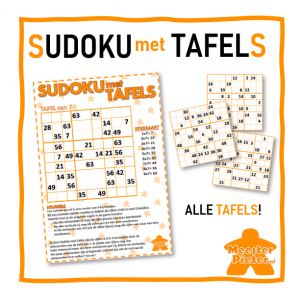 Sudoku met tafels BUNDEL afbeelding