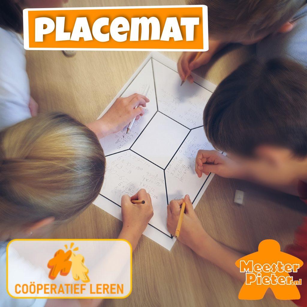 Cooperatief leren - Placemat -- cooperatieve werkvormen