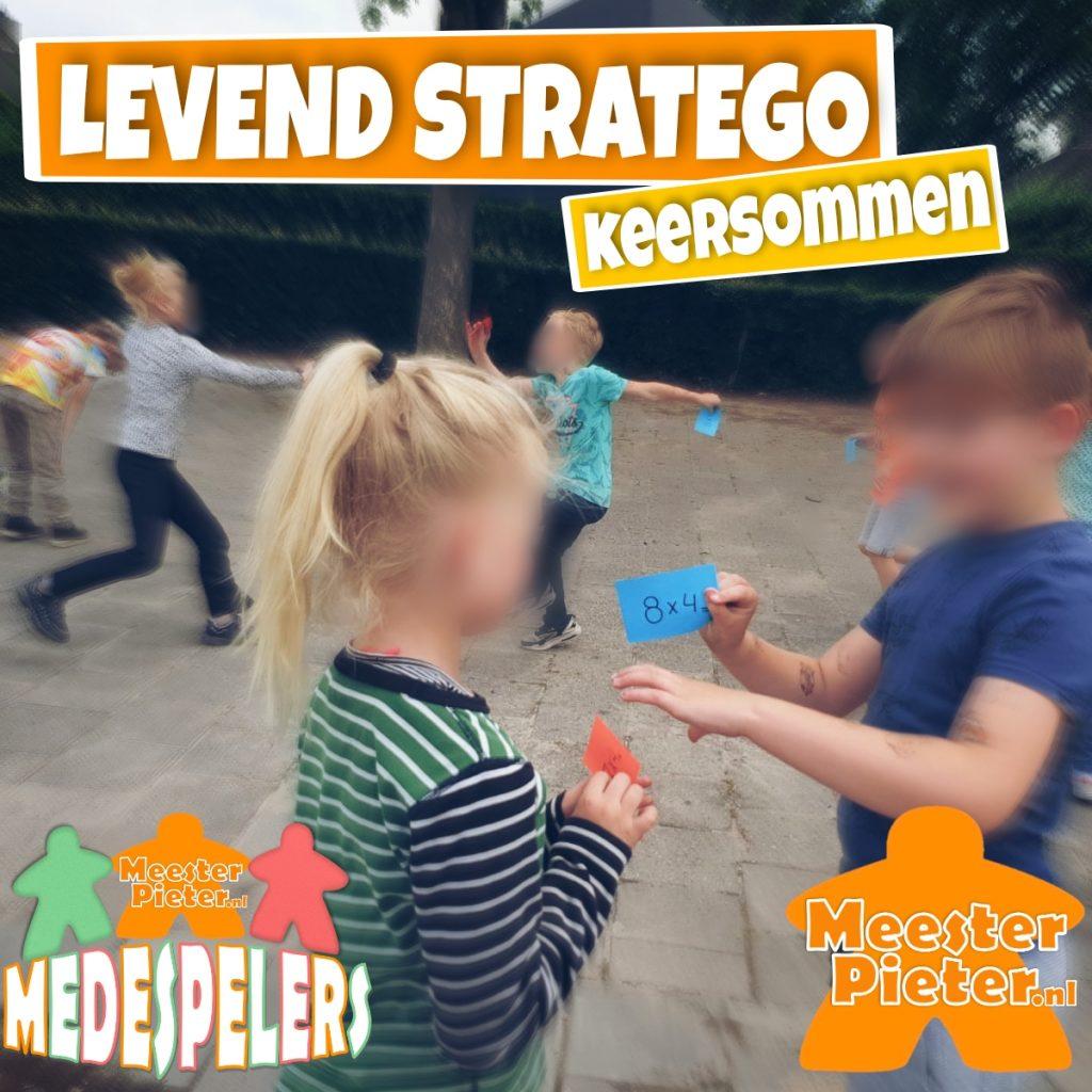 Levend stratego tafels spelend leren