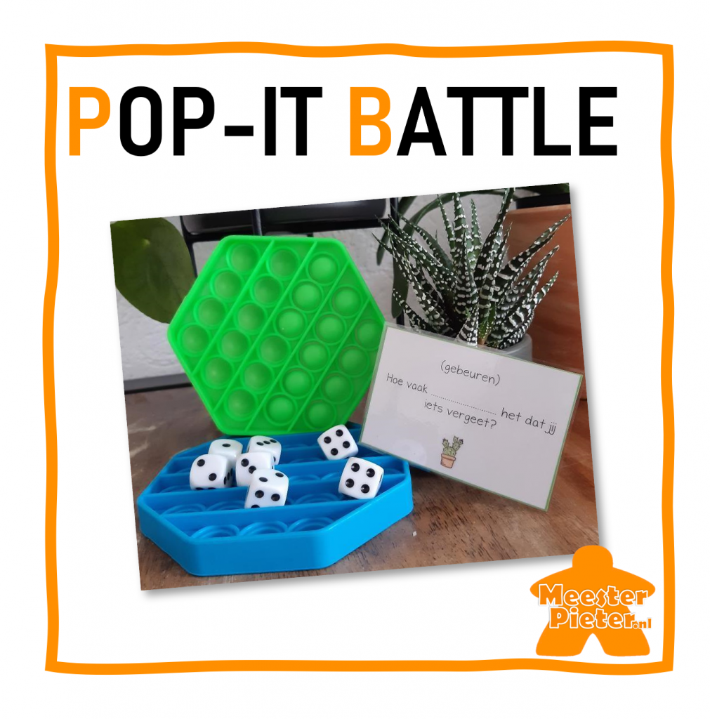 Pop-it Battle spelend leren